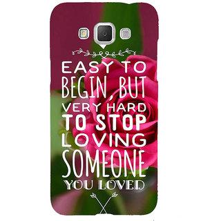 Ifasho Designer Back Case Cover For Samsung Galaxy Grand 3 :: Samsung Galaxy Grand Max G720F (Easy To Begin Hard Stop)