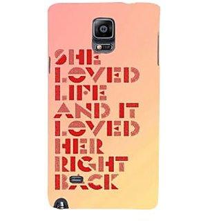 Ifasho Designer Back Case Cover For Samsung Galaxy Note 4 :: Samsung Galaxy Note 4 N910G :: Samsung Galaxy Note 4 N910F N910K/N910L/N910S N910C N910Fd N910Fq N910H N910G N910U N910W8 (Link  End Loved Right Back )