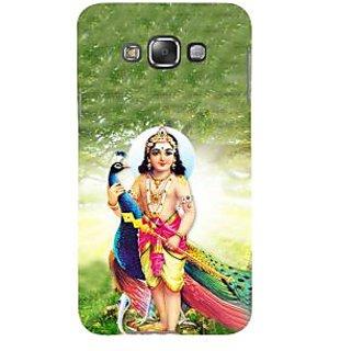 Ifasho Designer Back Case Cover For Samsung Galaxy E5 (2015)  :: Samsung Galaxy E5 Duos :: Samsung Galaxy E5 E500F E500H E500Hq E500M E500F/Ds E500H/Ds E500M/Ds  (Peacock Snake Kartik Maa Durga Parbati Lord Siva Ganesh)