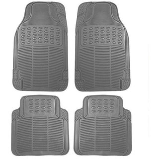 Bluetuff Custom made Grey Rubber Car Foot Mat set for Tata Nexon