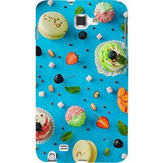 Ifasho Designer Back Case Cover For Samsung Galaxy Note 2 :: Samsung Galaxy Note Ii N7100 (Cake Giza Egypt Ajmer)