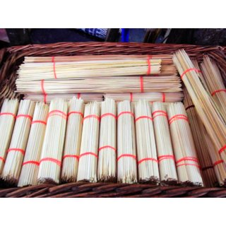 8 Inch Bamboo Skewers/Sticks - Pack of 100