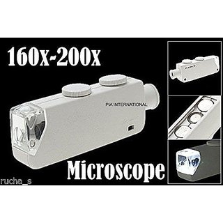 160X200X Magnifying MICROSCOPE Loupe -PIA INTERNATIONAL