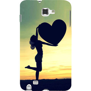 Ifasho Designer Back Case Cover For Samsung Galaxy Note 2 :: Samsung Galaxy Note Ii N7100 (Love Love Diary For Writing I Love You Gifts For Girlfriend M Love Locket)