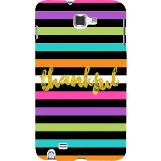 Ifasho Designer Back Case Cover For Samsung Galaxy Note 2 :: Samsung Galaxy Note Ii N7100 (Acknowledge Convey Give Thanks )