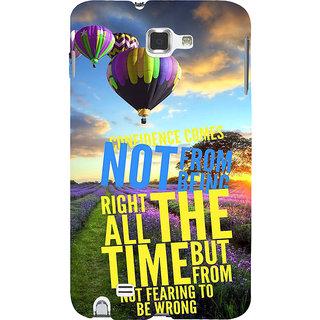 Ifasho Designer Back Case Cover For Samsung Galaxy Note 2 :: Samsung Galaxy Note Ii N7100 (Fear Run Parachute Concept Sunset)
