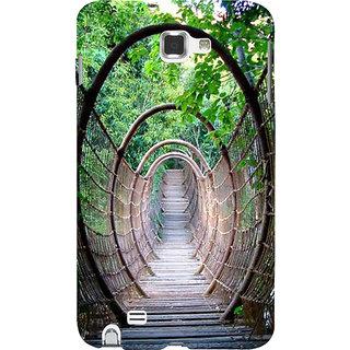 Ifasho Designer Back Case Cover For Samsung Galaxy Note N7000 :: Samsung Galaxy Note I9220 :: Samsung Galaxy Note 1 :: Samsung Galaxy Note Gt-N7000 (Wow Natural Bridge Jungle Woods Ropes)