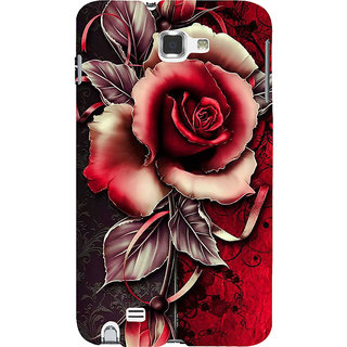 Ifasho Designer Back Case Cover For Samsung Galaxy Note N7000 :: Samsung Galaxy Note I9220 :: Samsung Galaxy Note 1 :: Samsung Galaxy Note Gt-N7000 (Painting Of Rose Royal Style Rose With Leaves)