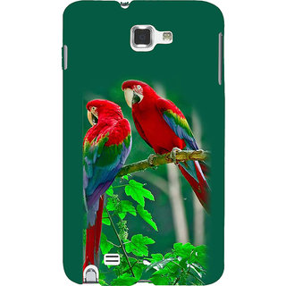 Ifasho Designer Back Case Cover For Samsung Galaxy Note 2 :: Samsung Galaxy Note Ii N7100 (Toes Tails Long Intelligent Bird Loud)