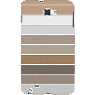 Ifasho Designer Back Case Cover For Samsung Galaxy Note 2 :: Samsung Galaxy Note Ii N7100 (Puzzle Different Color Lines Cloth Design)