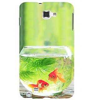 Ifasho Designer Back Case Cover For Samsung Galaxy Note N7000 :: Samsung Galaxy Note I9220 :: Samsung Galaxy Note 1 :: Samsung Galaxy Note Gt-N7000 (Gold Fish Transparent Aquatic Plants )