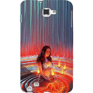 Ifasho Designer Back Case Cover For Samsung Galaxy Note 2 :: Samsung Galaxy Note Ii N7100 (Draupadi Sati Pandav Mahabharat Colombia West Bengal)