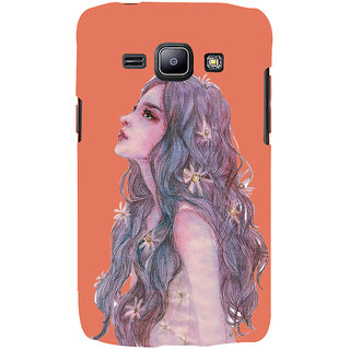 Ifasho Designer Back Case Cover For Samsung Galaxy J1 (2015) :: Samsung Galaxy J1 4G (2015) :: Samsung Galaxy J1 4G Duos :: Samsung Galaxy J1 J100F J100Fn J100H J100H/Dd J100H/Ds J100M J100Mu (Girl Drawing New York (Ny) Usa Girl Velly)