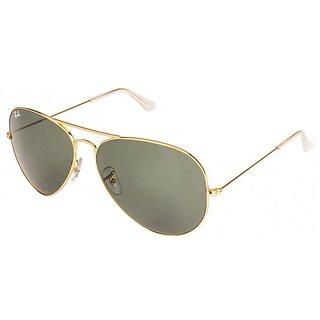 Sunglasses Golden Green Unisex Metal Sunglasses