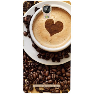 IFasho Designer Back Case Cover For Gionee Marathon M5 Plus (Coffee Capsules Coffee Dispenser Coffee Filter)