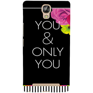 IFasho Designer Back Case Cover For Gionee Marathon M5 Plus (Love Pyar Rose One And Only)
