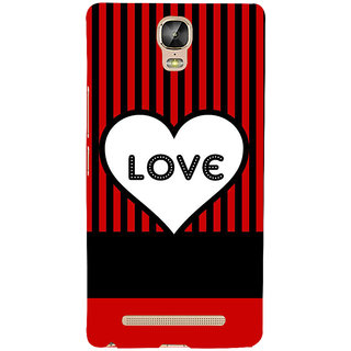 IFasho Designer Back Case Cover For Gionee Marathon M5 Plus (Heart Is Beating Disco My Mine)