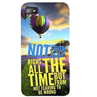 IFasho Designer Back Case Cover For BlackBerry Z10 (Fear Run Parachute Concept Sunset)