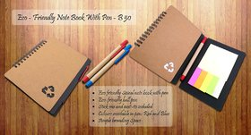 Travel Eco Notebook With Pen And Sticky Pads-B50 (1 DIA