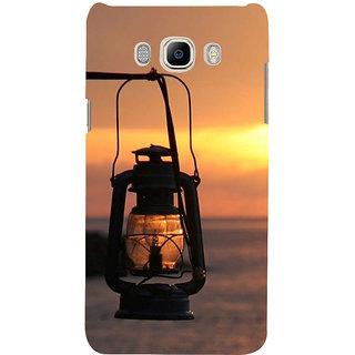 Ifasho Designer Back Case Cover For Samsung Galaxy J7 (6) 2016 :: Samsung Galaxy J7 2016 Duos :: Samsung Galaxy J7 2016 J710F J710Fn J710M J710H  (Sun Set Dark Light Deadly Boat Steamer)