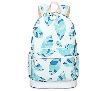 c922964b63 Artone Women s Leaves Print Casual Backpack With Laptop Compartment Blue
