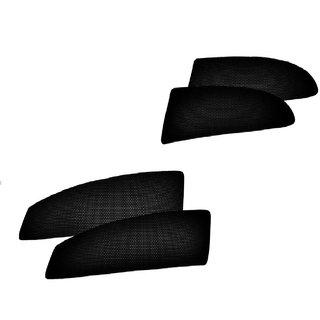 Autohub Black Color Best Quality Magnetic Folding Sun Shade With Zipper For Maruti Suzuki Baleno