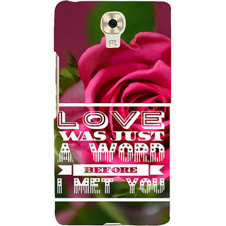 IFasho Designer Back Case Cover For Gionee M6 (Before I Met You I Am In Love)