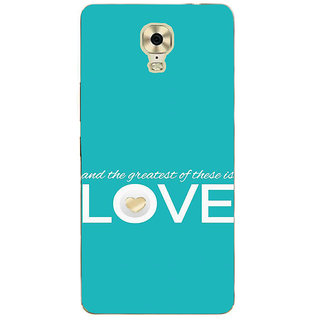 IFasho Designer Back Case Cover For Gionee M6 Plus (Heart Paid Couple)