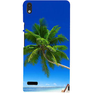 IFasho Designer Back Case Cover For Huawei Ascend P6 Beach Games Turtle Headset Scenary Wallpaper Jewellery Women Sea Weed