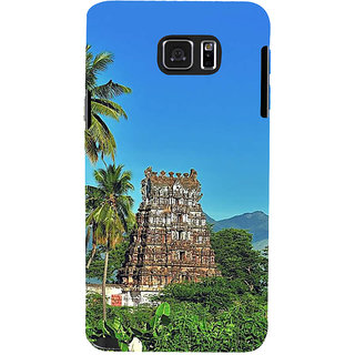 Ifasho Designer Back Case Cover For Samsung Galaxy Note 5 :: Samsung Galaxy Note 5 N920G :: Samsung Galaxy Note5 N920T N920A N920I  (Tamilnadu Temple Temple City Coconute Trees )