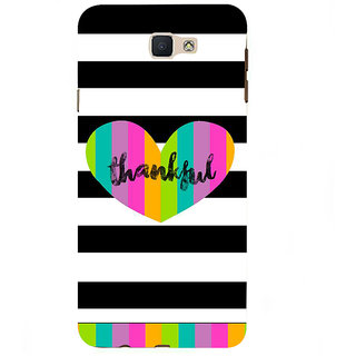 Ifasho Designer Back Case Cover For Samsung Galaxy J7 Prime (2016) (Bound Oblidged Cheerful Satisfactory Greatful)