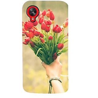 IFasho Designer Back Case Cover For LG Nexus 5 :: LG Google Nexus 5 :: Google Nexus 5 (Red Vanda Hoedown Amusement Rose Light Posy Bloom Bunch Ornament)