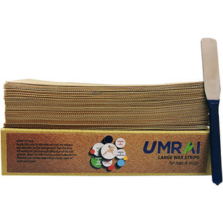 UMRAI Waxing Strips  Waxing Knife (90 Strips + 1 Knife Combo)