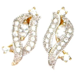 Beautiful Designed American Diamond Earrings leaf style with sparkling effect