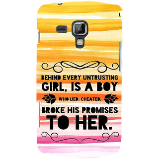 Ifasho Designer Back Case Cover For Samsung Galaxy S Duos 2 S7582 :: Samsung Galaxy Trend Plus S7580 (Cheater Unfaithful Dhokewaj)