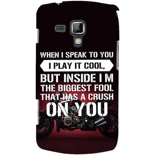 Ifasho Designer Back Case Cover For Samsung Galaxy S Duos 2 S7582 :: Samsung Galaxy Trend Plus S7580 (Respective  Arts And Entertainment)