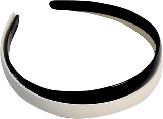 Ashika Combo Pack of 2 Wide Hairbands ( Black and White) Hair Band  (Multicolor)