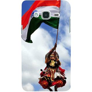 Ifasho Designer Back Case Cover For Samsung Galaxy J2 (6) 2016  J210F :: Samsung Galaxy J2 Pro (2016) (Kathakali Dance Indian Flag Boarder War)