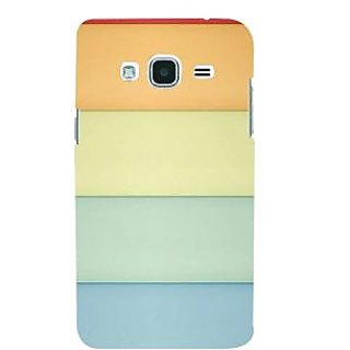 Ifasho Designer Back Case Cover For Samsung Galaxy J2 (6) 2016  J210F :: Samsung Galaxy J2 Pro (2016) (Yellow Light Blue Orange Red Light Green )