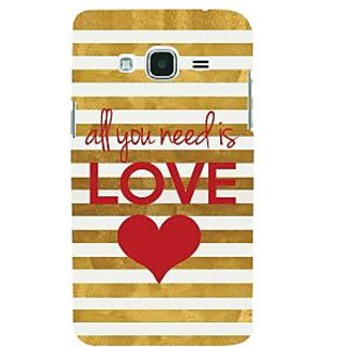 Ifasho Designer Back Case Cover For Samsung Galaxy J2 (6) 2016  J210F :: Samsung Galaxy J2 Pro (2016) (Every One Needs Love)