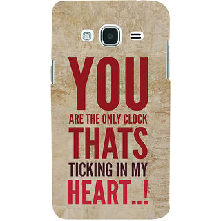Ifasho Designer Back Case Cover For Samsung Galaxy J2 (6) 2016  J210F :: Samsung Galaxy J2 Pro (2016) (You Are The Only Clock In My Heart)