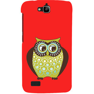 Ifasho Designer Back Case Cover For Huawei Honor Holly (Animation Night Bird Carnival Animal)