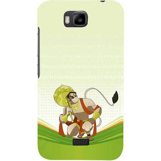 Ifasho Designer Back Case Cover For Huawei Honor Bee :: Huawei Honor Bee Y5c (Flying Man Lord Hanuman Sree Ram Kala Ram)