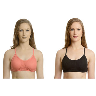 Bahucharaji Creation Black Cotton Lycra Sports Bras
