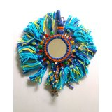 Beautiful Wall Hanging With Mirror Tassels And Thread Work.GLITZY BY ROOHIE