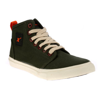 Sparx Men's Olive Lace-up Sneakers
