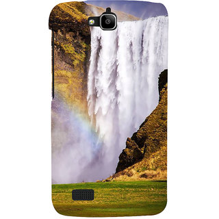 Ifasho Designer Back Case Cover For Huawei Honor Holly (River Rocking Peaceful Shanti Scenary)