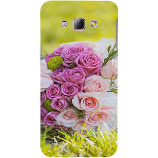 Ifasho Designer Back Case Cover For Samsung Galaxy A8 (2015) :: Samsung Galaxy A8 Duos (2015) :: Samsung Galaxy A8 A800F A800Y (Noble Orchid Hop Rose Milk Essence Gentry Establishment Society Celebrity)