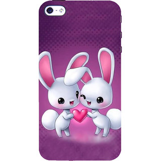 IFasho Designer Back Case Cover For   5 (Cartoon Love Rabit Caricaturestar More Words Related To Cartoon cry)