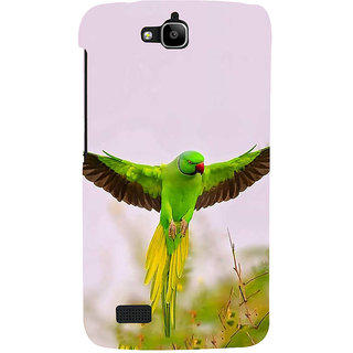 Ifasho Designer Back Case Cover For Huawei Honor Holly (Senegal Rose Breasted Cockatoo)